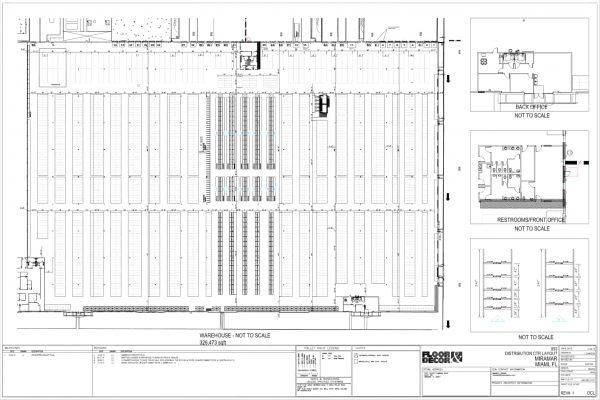 Tear Drop Rack floor rack layout